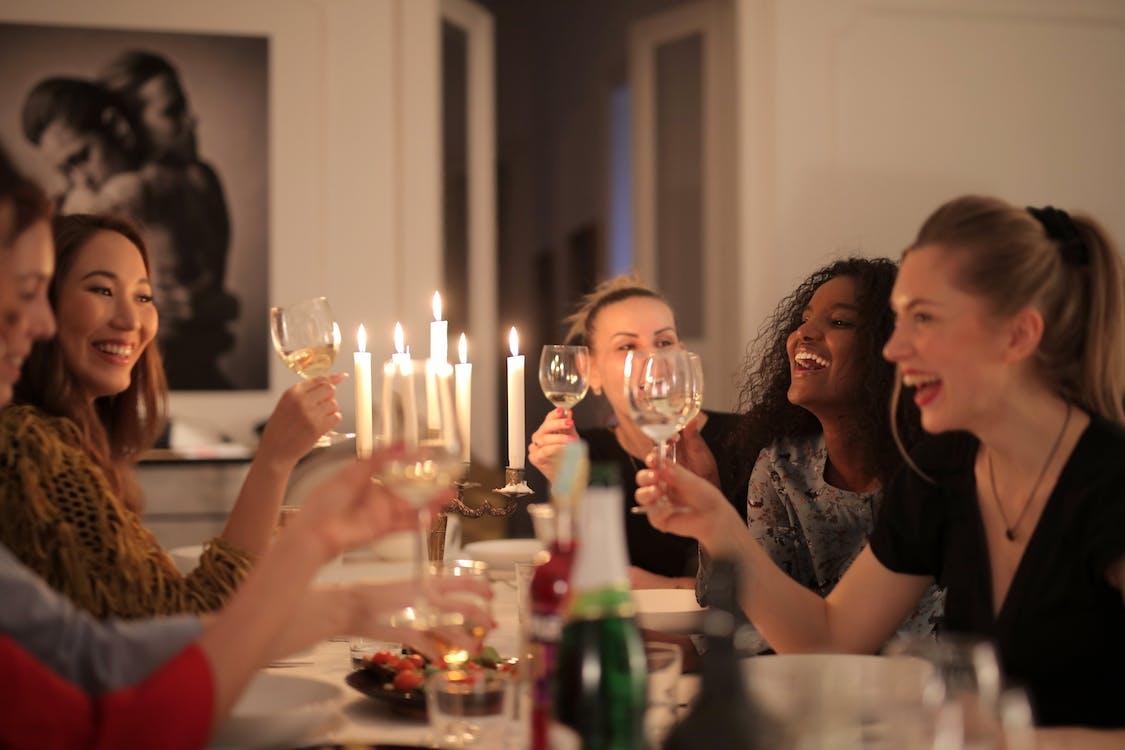Group of Women Having Dinner