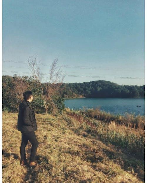 Free stock photo of blue lake, landscape, sad