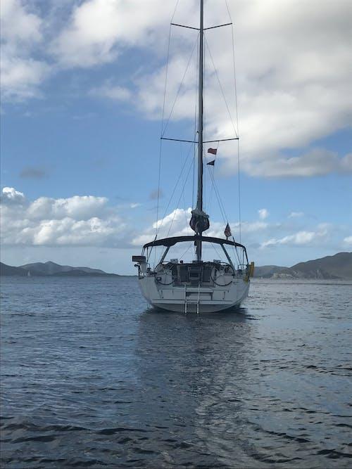 Free stock photo of blue water, sail, sailing boat