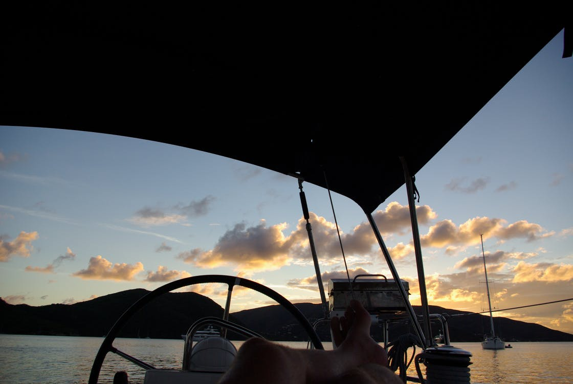 Free stock photo of evening sun, sail, sunset