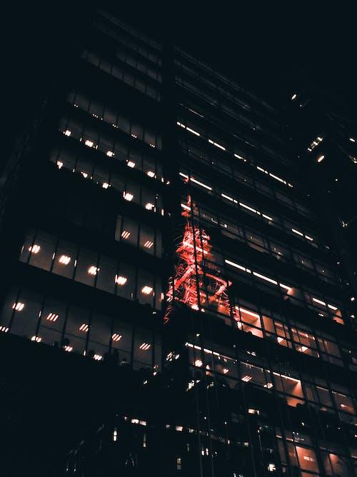 塔, 建築, 橙子, 燈光 的 免费素材照片