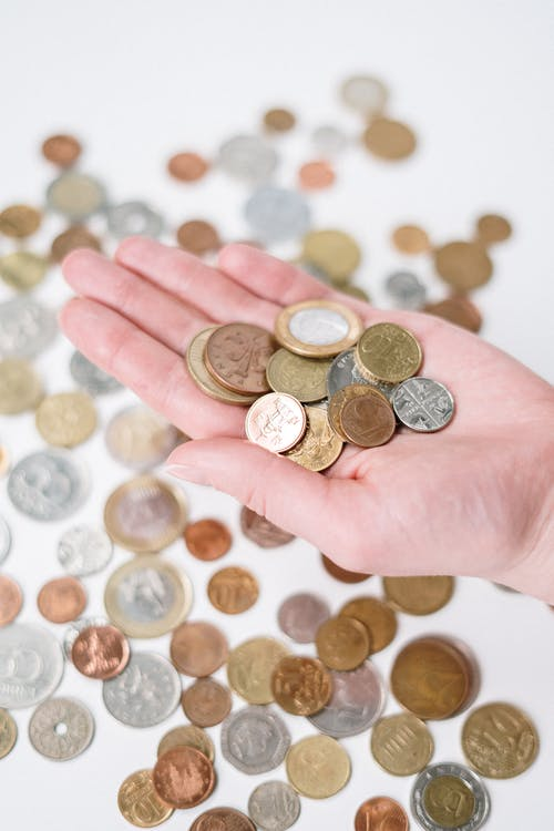 Person Holding Silver and Gold Coins