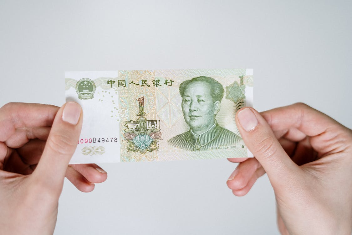 20 Banknote on White Table
