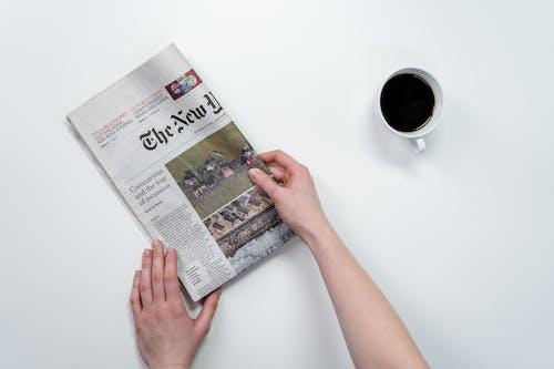 Fotobanka sbezplatnými fotkami na tému čierna káva, denné spravodajstvo, denník, dobré správy