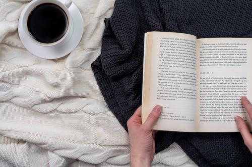 Kostnadsfri bild av arbete, bok, espresso