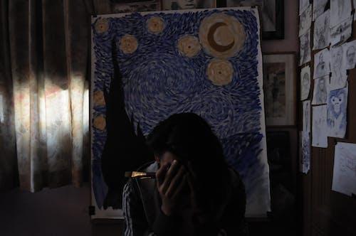 Free stock photo of alone, dark, painting