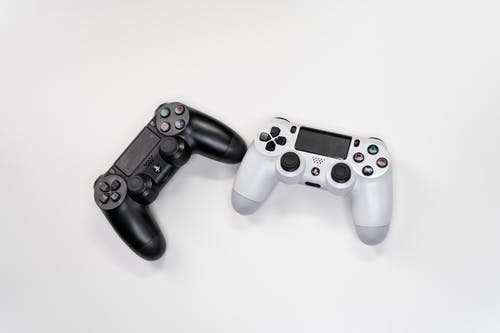 White and Black Sony Ps 4 Game Controller