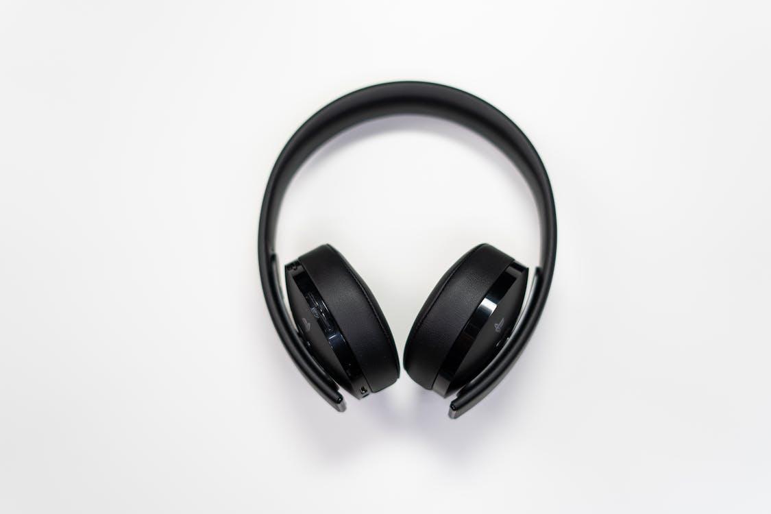 Black Wireless Headphones on White Surface