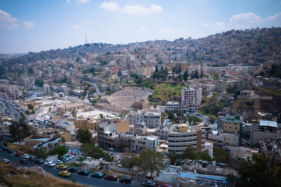 épület, házak, jordan