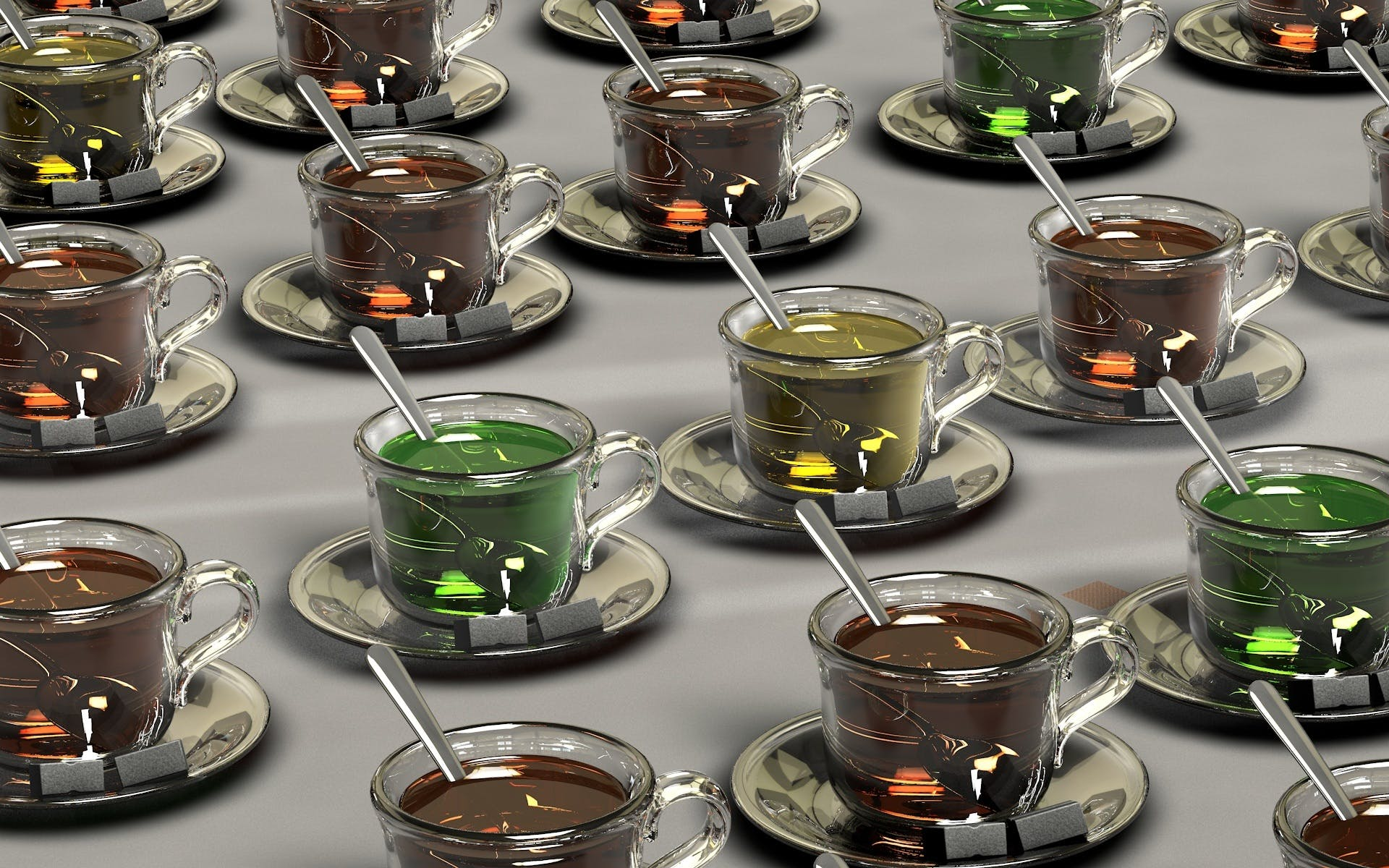 Clear Glass Teacup With Chocolate Drink