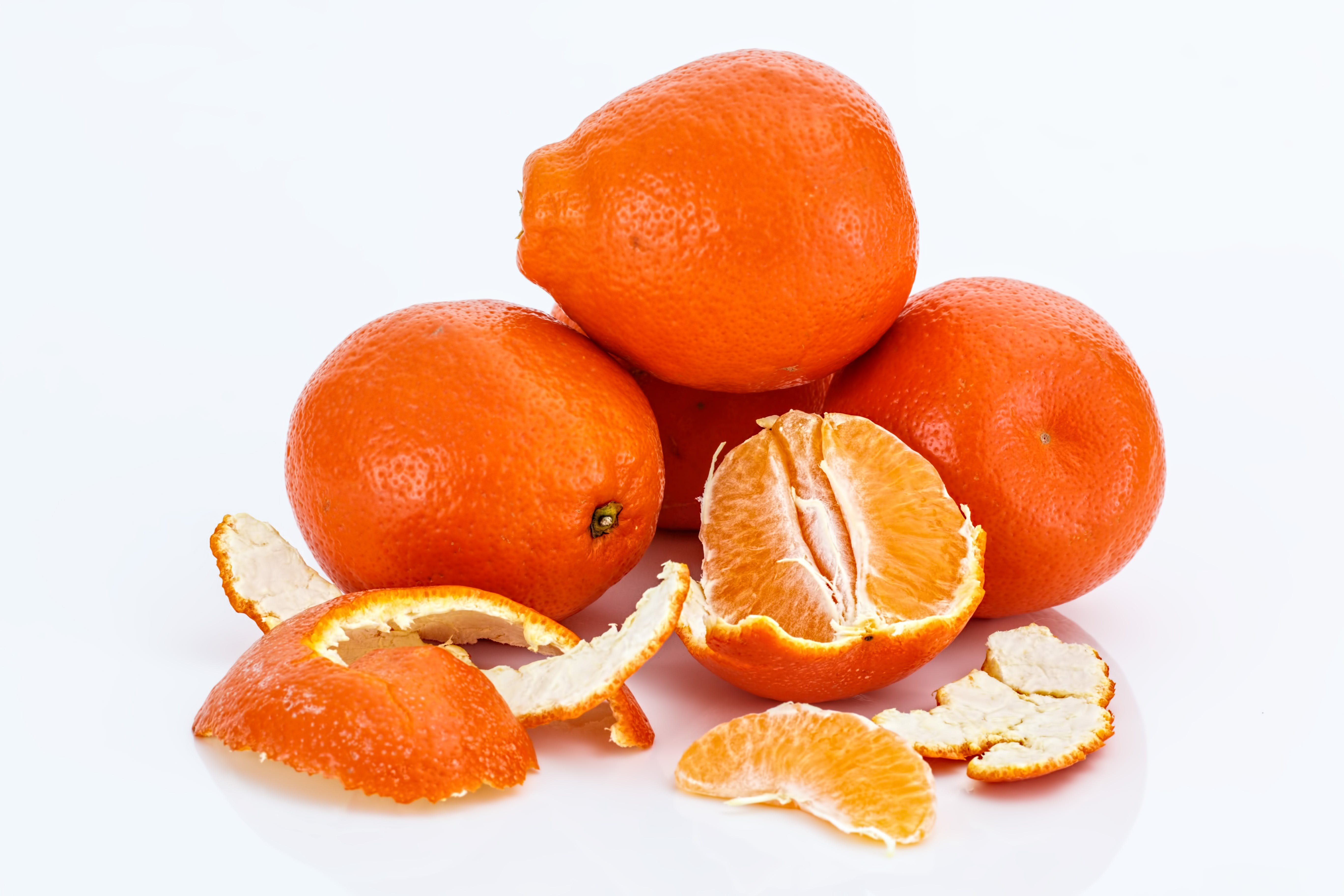 Peeled Orange Fruits