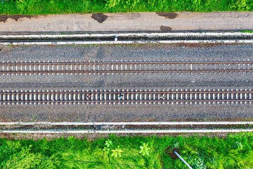 Aerial Shot Of Railroad