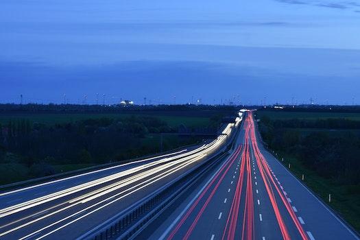 Free stock photo of road, traffic, landscape, night