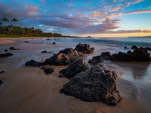 Δωρεάν στοκ φωτογραφιών με maui, ακτή, άμμος, Ανατολή ηλίου