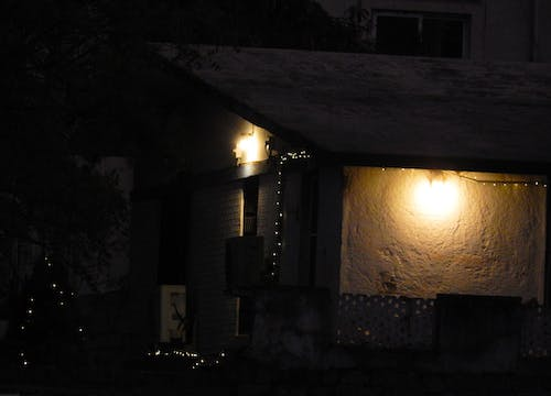 Free stock photo of house, lights, well lighted house