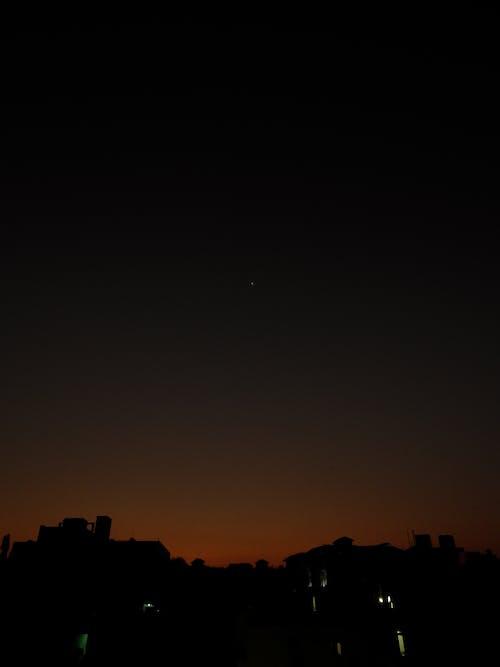 Free stock photo of dawn, star, sunset
