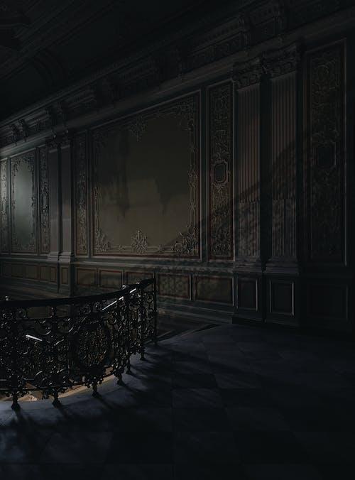 Foto stok gratis dalam ruangan, gelap, hitam