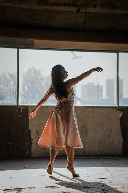 Ballerina Wearing A Dress
