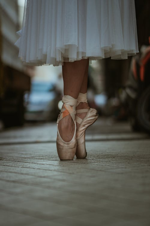 Ballerina On Tiptoes