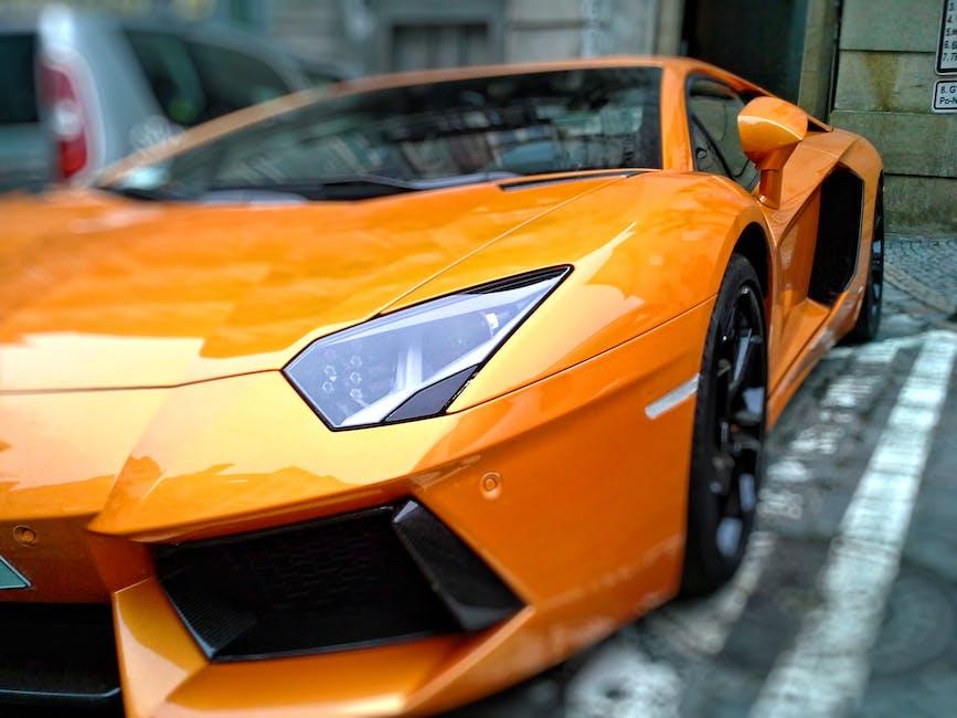 Orange Lamborghini Gallardo on Park
