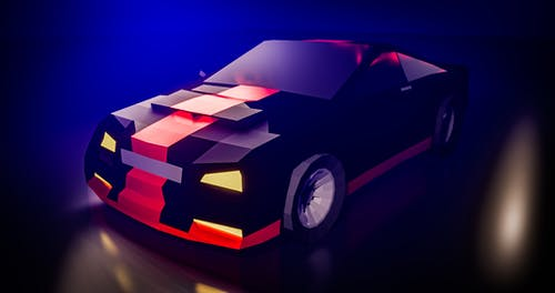 Free stock photo of 3d, blender, Low Poly, sports car