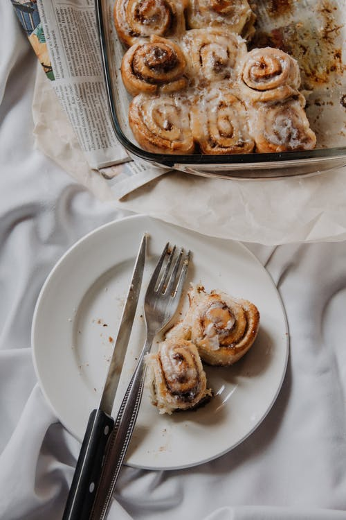 Cinnamon Rolls On A Plate