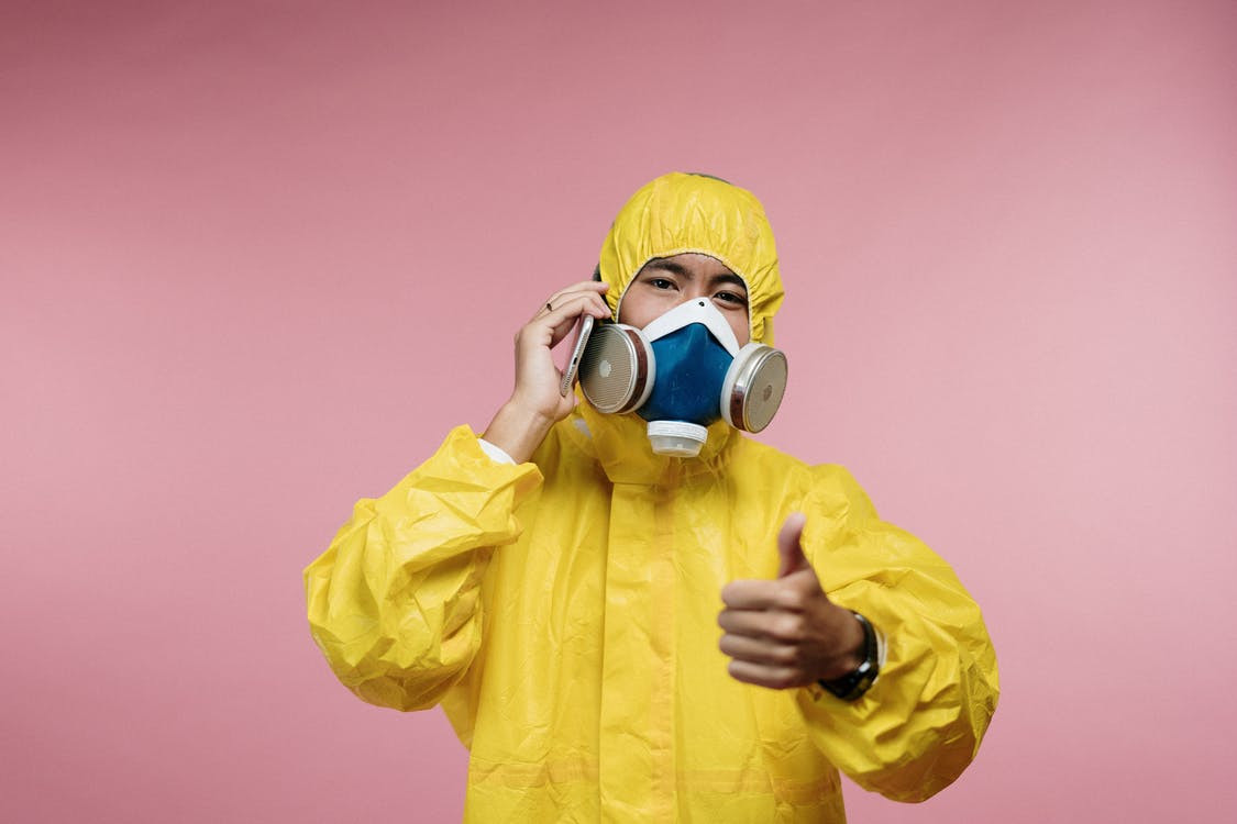 Person in Yellow Coveralls