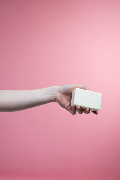 Person Holding Soap