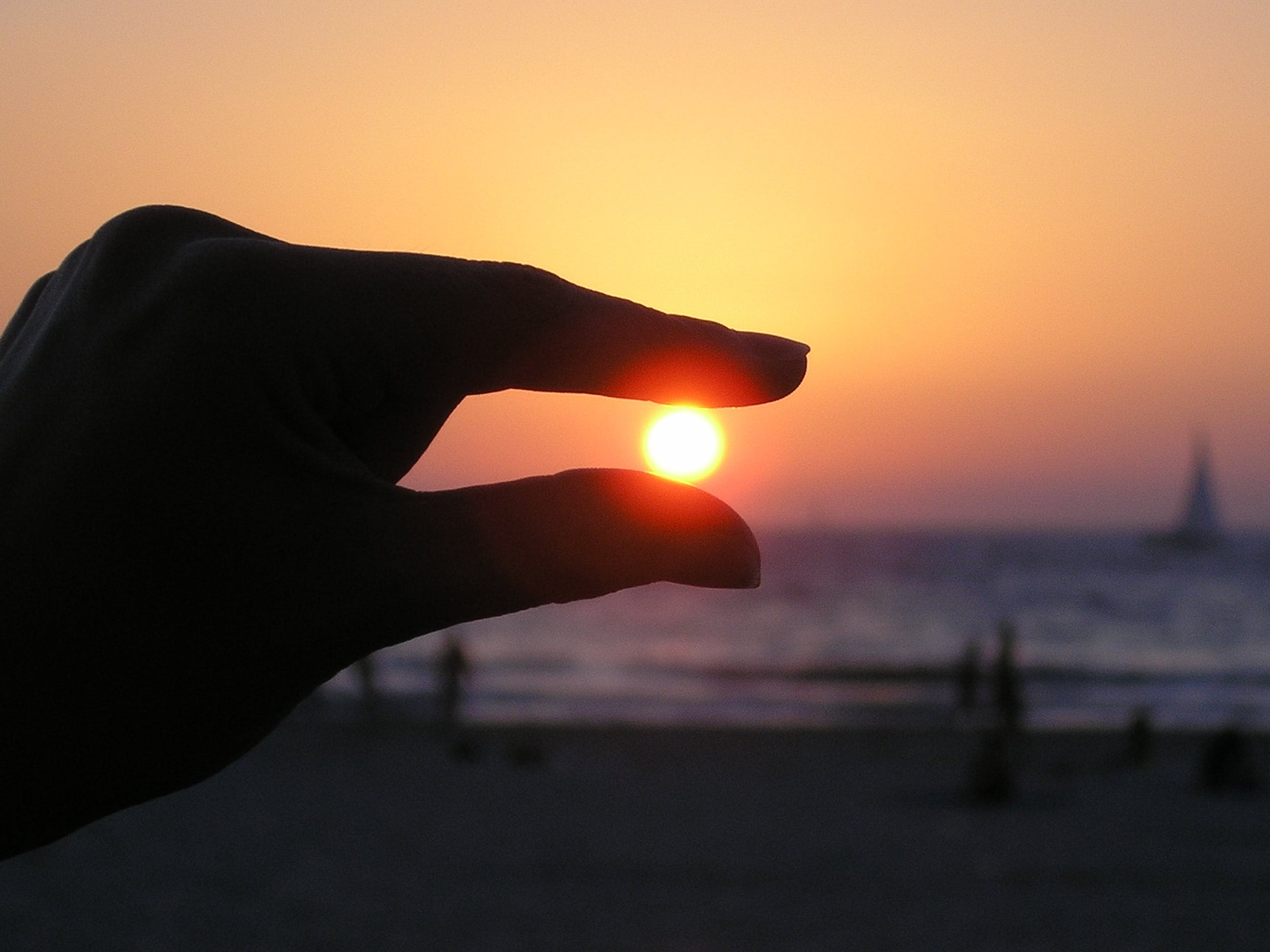 Force Perspective Photo of Person Holding Sun