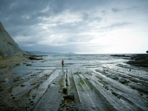 巴斯克国家, 海, 海岸線, 私人海滩 的 免费素材照片