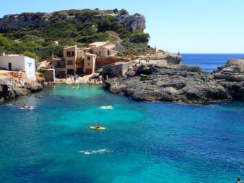 calas s'almunia, 土耳其藍, 海, 海岸線 的 免费素材照片