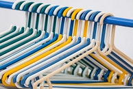 plastic, clothes hangers, rack