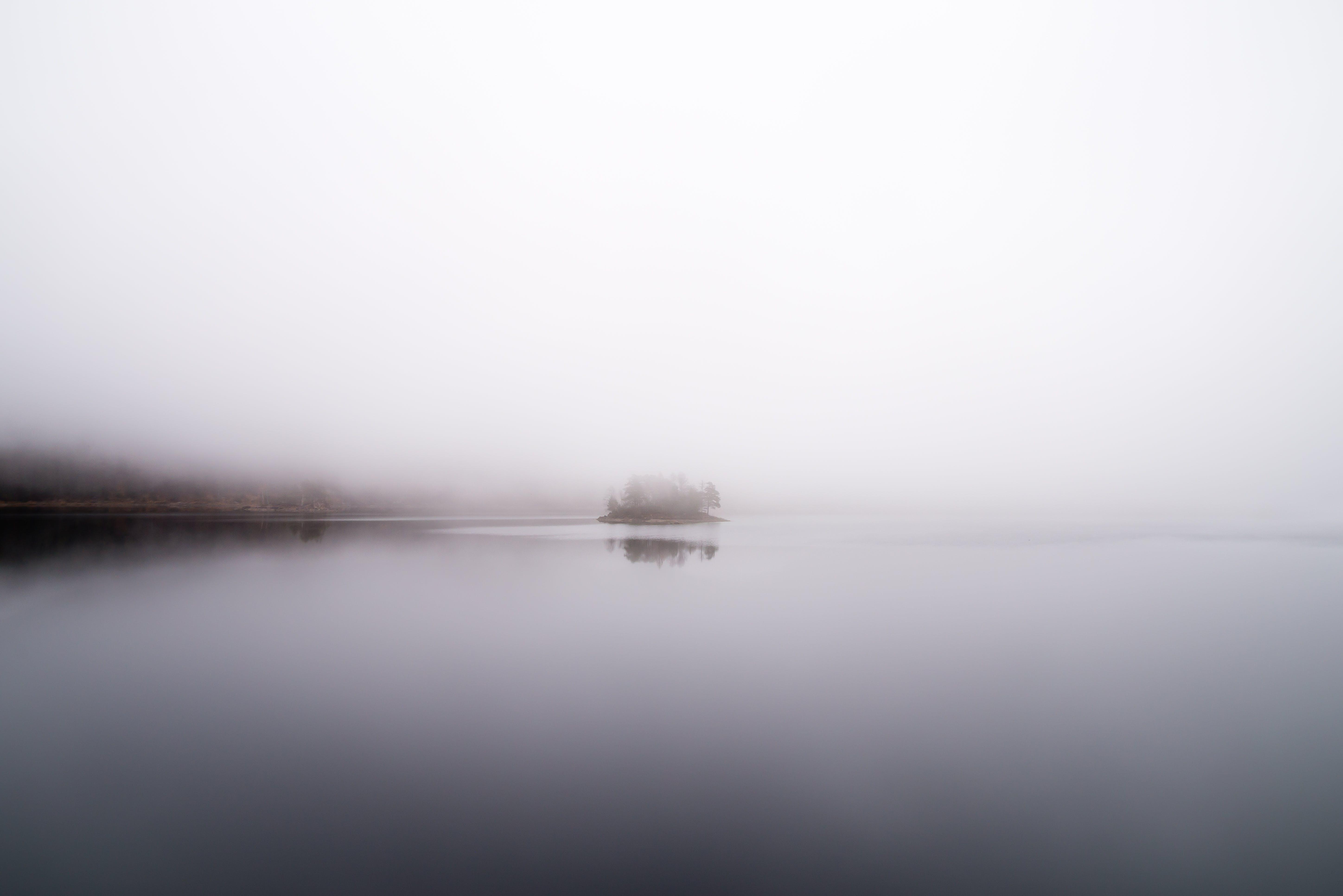 Desktop background of light, sea, dawn, landscape