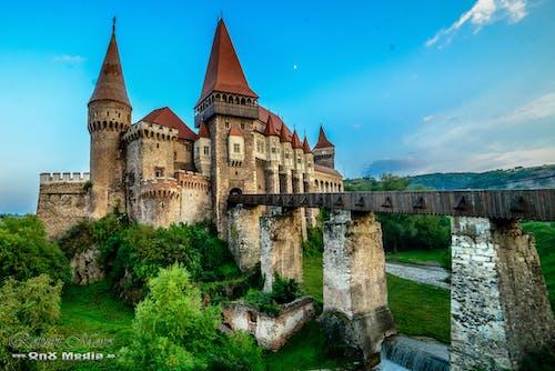 Free stock photo of castle, landscape, romania, sunset