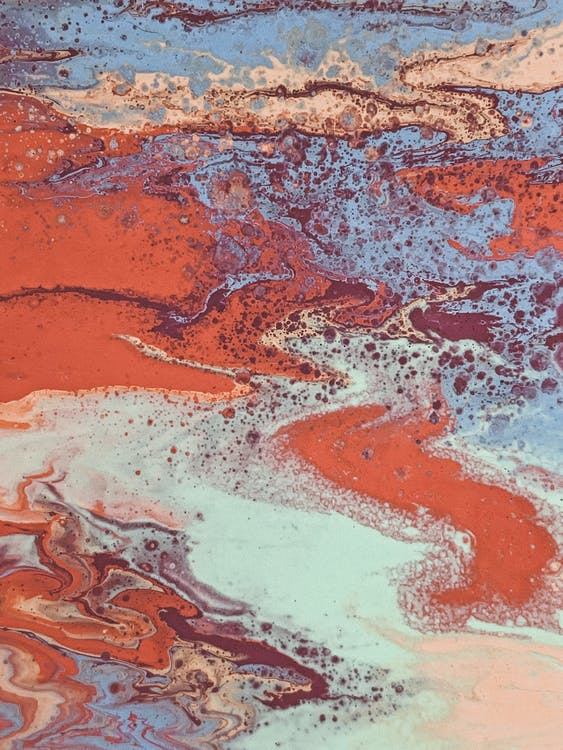 abstrakt, abstrakt ekspressionisme, akrylmaling