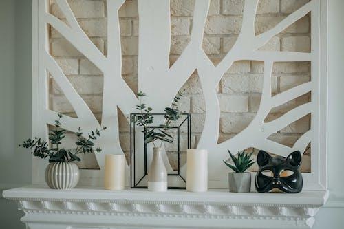 Fotos de stock gratuitas de adentro, chimenea, contemporáneo, decoración