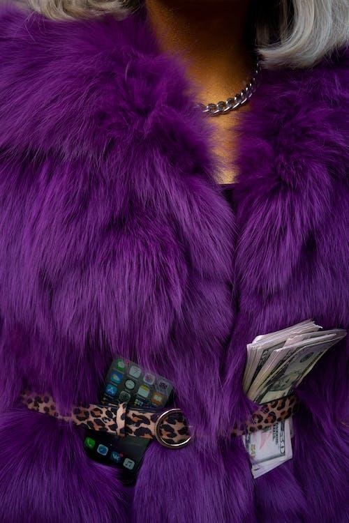 Purple Fur Coat