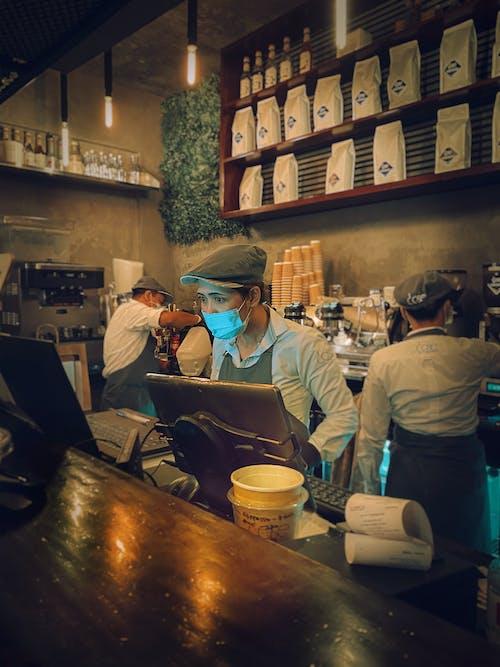 Free stock photo of barista, black coffee, china, coffee maker