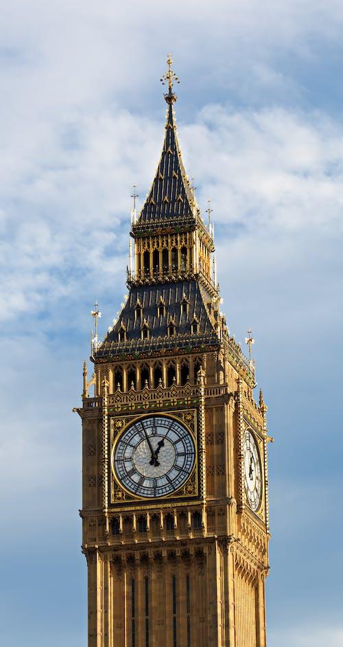Old ornamental Big Ben facade in London