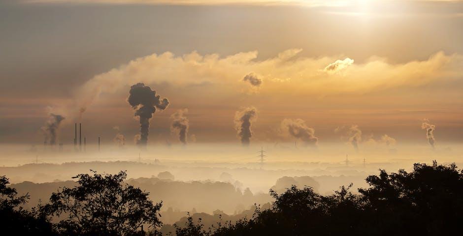 air, carbon, chimney