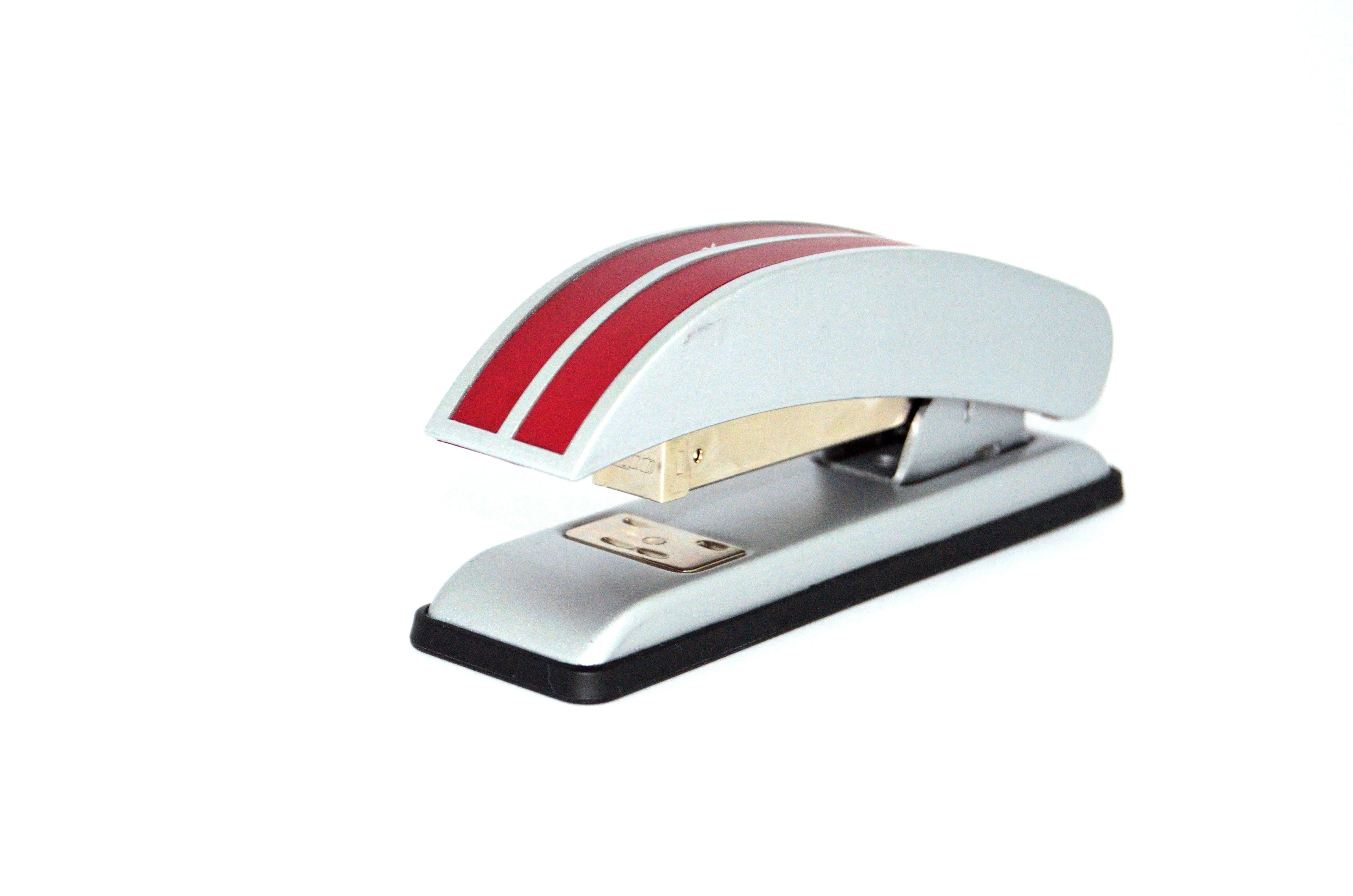 Red and White Stapler
