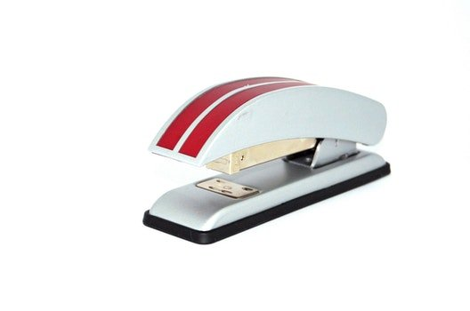 Red and White Stapler