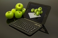 apple, ipad, fruits