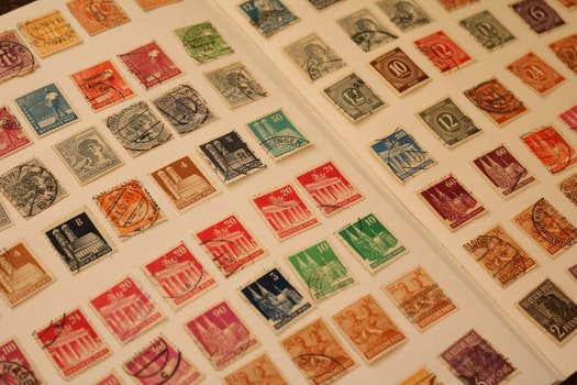 Free stock photo of stamps