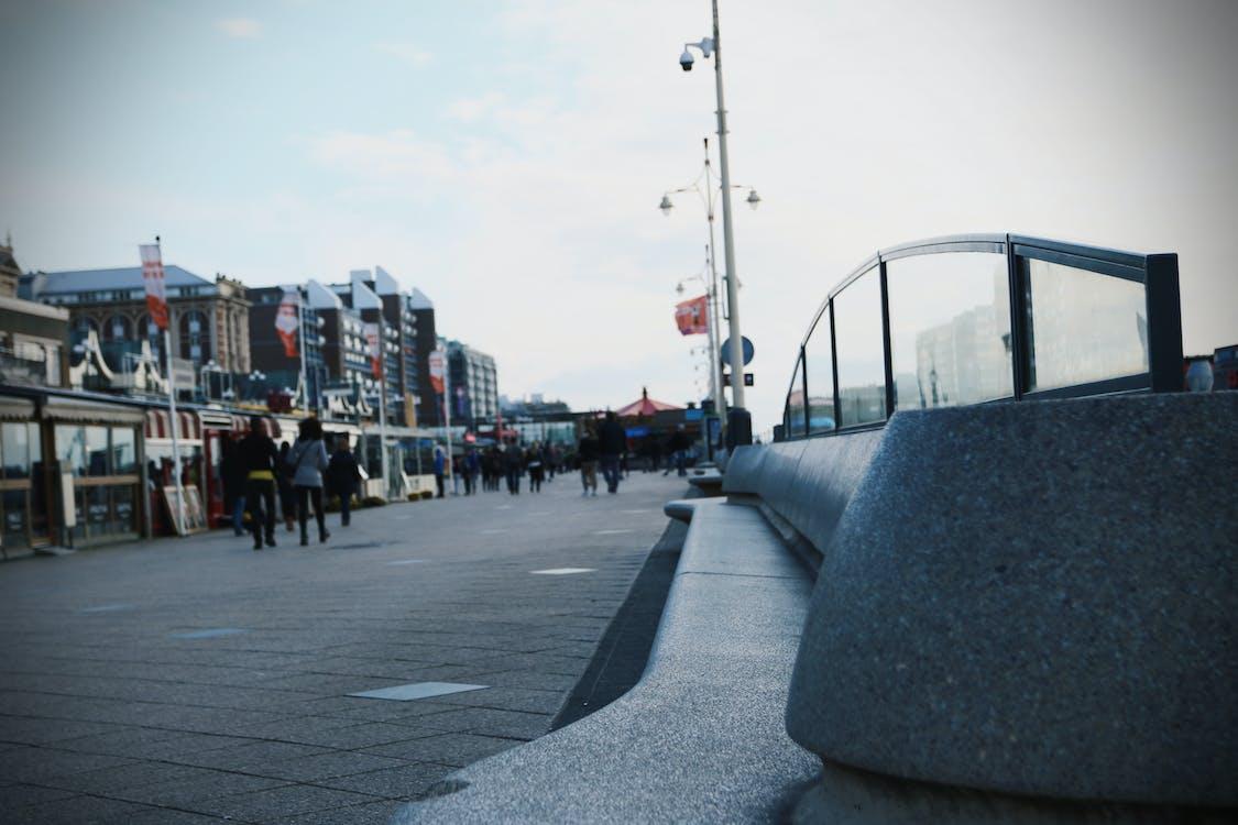 Free stock photo of beach, bench, boulevard