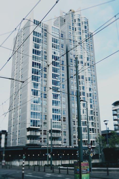 Free stock photo of apartment building, holland, scheveningen