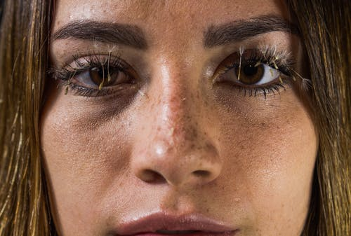Close-up Photo Of A Woman
