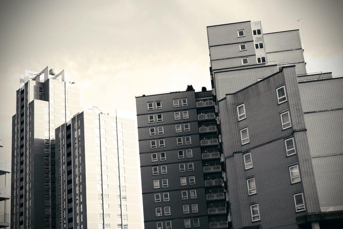 Free stock photo of apartment buildings, holland, scheveningen