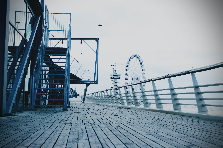 architecture, beach, big wheel