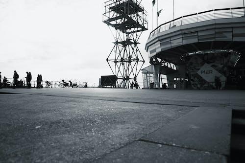 คลังภาพถ่ายฟรี ของ scheveningen, ชายหาด, ภาพถ่ายมุมต่ำ